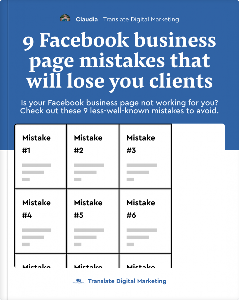 9 FB page mistakes that will lose you clients